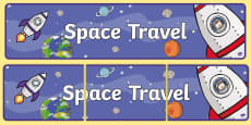 Space Travel Display Banner