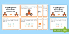 Fidget Spinner Times Tables KS1 Challenge Cards
