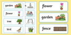 Garden Word Cards