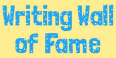 Writing Wall of Fame Display Lettering