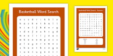 Rio 2016 Basketball Word Search