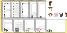 Editable Farm Page Borders Pack