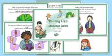 Reading Area Challenge Cards Arabic Translation