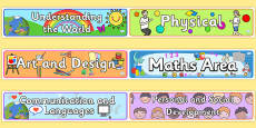 EYFS Learning Areas Display Banners Pack