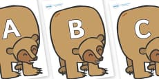 A-Z Alphabet on Brown Bear to Support Teaching on Brown Bear, Brown Bear