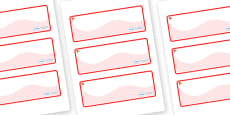 Ginko Tree Themed Editable Drawer-Peg-Name Labels (Colourful)