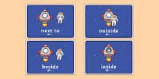 Astronauts Positional Language Display Posters