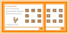 Hen House Maths Challenge A4 Display Posters