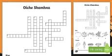 Oíche Shamhna Crossword Gaeilge