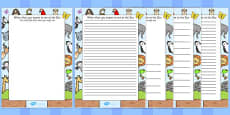 Zoo Trip Themed Writing Frames
