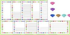 Little Gem Class Page Borders Pack