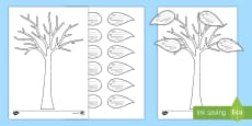 All About My Family Tree and Leaf Activity Sheet English/Portuguese