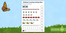 Minibeast Counting Activity Sheet