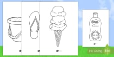 * NEW * Extra Large Summer Coloring Pages Activity