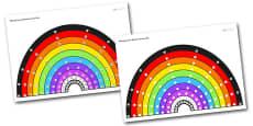 Multiplication Rainbow Visual Aid