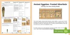 Ancient Egyptian Fronted Adverbials Learning From Home Activity Booklet