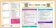 Home Corner Continuous Provision Plan Posters Nursery FS1