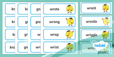 PlanIt English Additional Resources Year 2 Term 1A Spelling Word Cards
