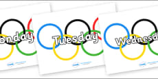 Days of the Week on Olympic Rings