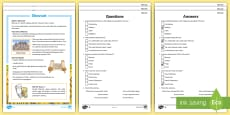 KS2 Shavuot Differentiated Reading Comprehension Activity