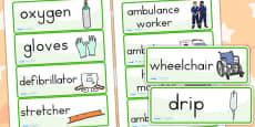 Australia - Ambulance Worker Word Cards