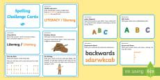 * NEW * Spelling Activities Challenge Cards