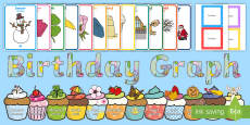 Birthday Graph Display Pack English/Welsh