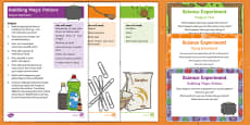EYFS Science Experiments Resource Pack to Support Teaching on Room on the Broom