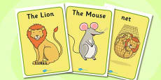 The Lion And The Mouse Display Posters