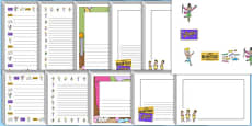 Page Borders to Support Teaching on Charlie and the Chocolate Factory