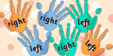 Right And Left Handprint Cut Outs