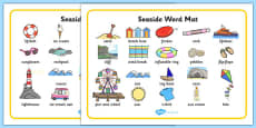 Seaside Word Mats