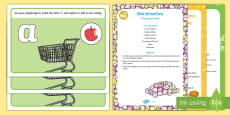 * NEW * Shopping-Themed Phase 2 Phonics Playdough Recipe and Mat Pack