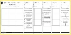 * NEW * Place Value Problem Solving Tic-Tac-Toe Differentiated Activity Sheets