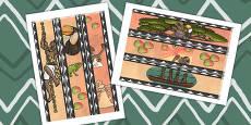 Kingdom of Benin: Bini Creation Story Display Borders