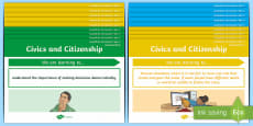 Year 3 Australian HASS Civics and Citizenship  Content Descriptor Statements Display Pack