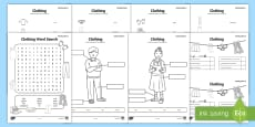 Clothes Activity Sheets