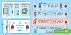 Classroom Toilet Signs Display Pack