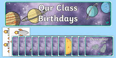 Editable Birthday Display Set (Space)