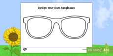 * NEW * Design Your Own Sunglasses Activity Sheet