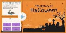 The History of Halloween PowerPoint and Comprehension Activity Sheets