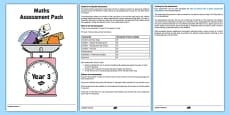 Year 3 Maths Assessment Overview