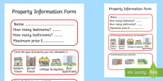 Estate Agents Property Form