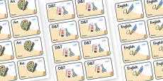 Cat Themed Editable Book Labels