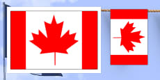 Canada Flag Display Bunting