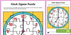 Clock Jigsaw Puzzle Activity