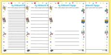 Teacher Learning Promise Activity Sheet Welsh