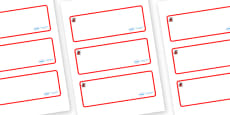 Ladybird Themed Editable Drawer-Peg-Name Labels (Blank)