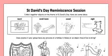 Elderly Care St David's Day Reminiscence Session