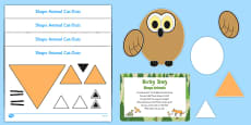 Shape Animals Busy Bag Prompt Card and Resource Pack to Support Teaching on The Gruffalo